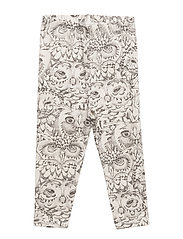 Soft Gallery Paula Baby Leggings - CREAM, AOP OWL