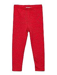 Baby Paula Leggings - MARS RED, AOP MINI DOTS