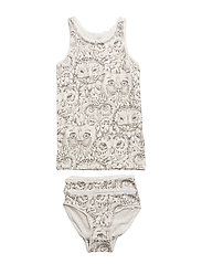 Juliette Underwear - CREAM, AOP OWL