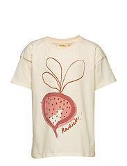 Dharma T-shirt - GARDENIA, RADISH