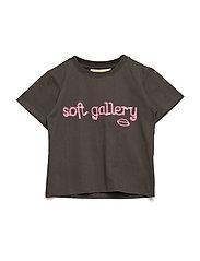 Dominique T-shirt - PEAT, NEON LIPS