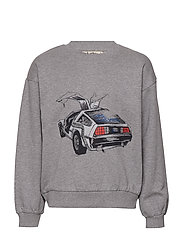 Drew Sweatshirt - GREY MELANGE, DELOREAN