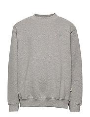 Walker Sweatshirt - GREY MELANGE, MINI OWL EMB.
