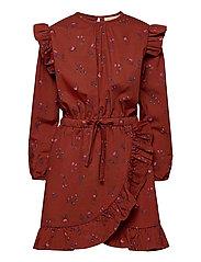 Ea Dress - RED OCHRE, AOP CLOUDBERRY