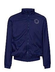 Dixon Jacket - DRESS BLUE, CREAM LOGO
