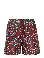 Dandy Swim Pants - RUSSET BROWN, AOP CORAL