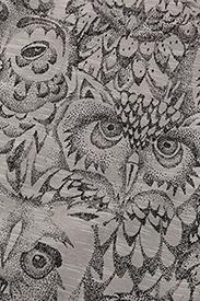 Soft Gallery - Owen Body - krótki rękaw - drizzle, aop owl - 2