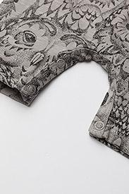 Soft Gallery - Owen Body - krótki rękaw - drizzle, aop owl - 3