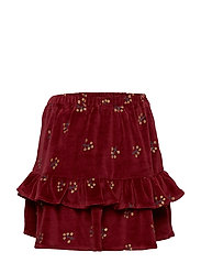 Fern Skirt - TAWNY PORT, AOP WINTERBERRY