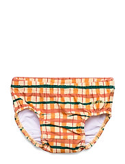 Miki Swim Pants - WINTER WHEAT, AOP CHECK