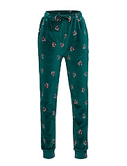 Charline Pants - DEEP TEAL, AOP WINTERBERRY