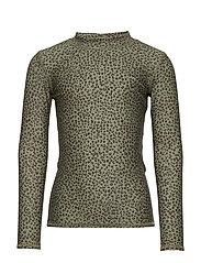 Astin Sun Shirt - OIL GREEN, AOP LEOSPOT