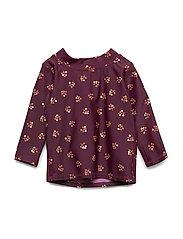 Baby Astin Sun Shirt - FIG, AOP WINTERBERRY SMALL
