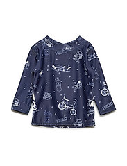 Baby Astin Sun Shirt - DRESS BLUES, AOP STARSURFER SWIM