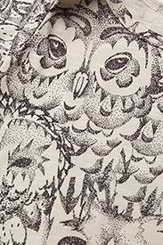 Soft Gallery - Anine Body - kurzärmelige - cream, aop owl - 2