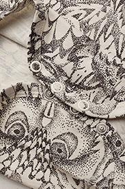 Soft Gallery - Anine Body - kurzärmelige - cream, aop owl - 3