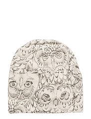 Soft Gallery Beanie - CREAM, AOP OWL
