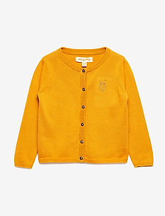 Carrie Cardigan - cardigans - golden glow, mini owl emb.