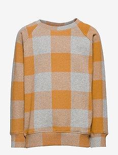 Chaz Sweatshirt - GREY MELANGE, AOP PLAID