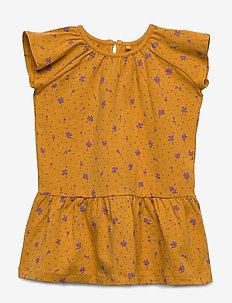 Lexie Dress - SUNFLOWER, AOP CLOVER