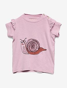 Sif T-shirt - kortermede - dawn pink, snailey
