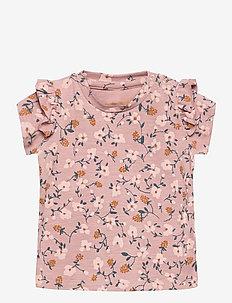 Sif T-shirt - À manches courtes - woodrose, aop flowerberry
