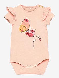 Helga Body - kortærmede - rose cloud, flowerfly