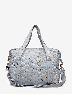 Nursery Bag - sacs à langer - ocean grey, aop mini splash blue