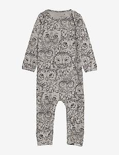 SGBen Bodysuit - NOOS - langärmelig - drizzle, aop owl