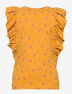 Aylin T-shirt - sleeveless tops - sunflower, aop clover