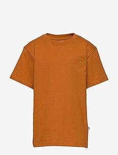 Asger T-shirt - kortermede - pumpkin spice, mini owl emb.