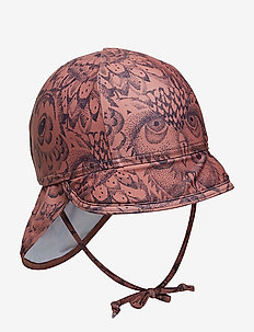 Alex Sun Hat - uv-caps - burlwood, aop owl