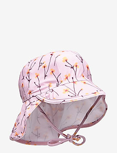 Alex Sun Hat - dawn pink, aop buttercup s