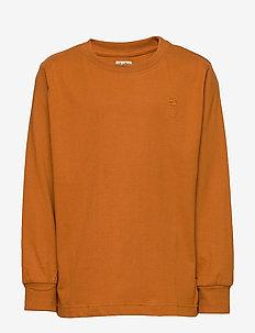 Benson T-shirt - langermede t-skjorter - pumpkin spice, mini owl emb.