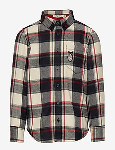 Bentley Shirt - RBW CHECK, OWL PATCH GREY