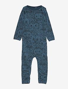 SGBen Bodysuit - NOOS - langärmelig - orion blue, aop owl