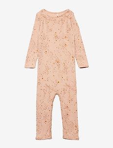 Ben Bodysuit - long-sleeved - peach perfect, aop mini splash rose
