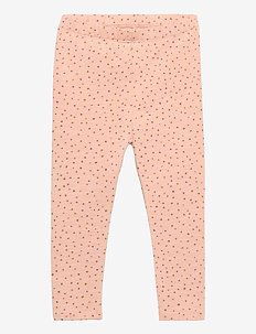 Baby Paula Leggings - leggings - rose cloud, trio dotties