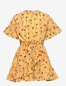 Dory Dress - GOLDEN APRICOT, AOP BUTTERCUP