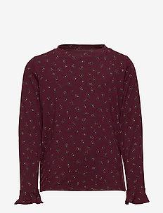 Elia T-shirt - FIG, AOP PETALS MINI