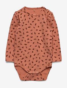 Ellen Body - long-sleeved - tawny orange, aop camomile s
