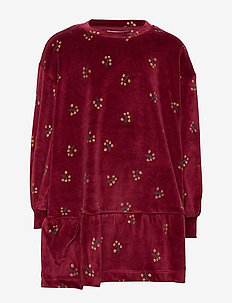 Emanuelle Dress - dresses - tawny port, aop winterberry