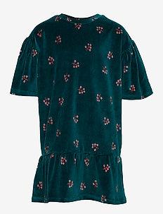 Elodie Dress - DEEP TEAL, AOP WINTERBERRY