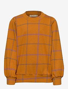 Era Sweatshirt - bluzy - inca gold, aop trellis