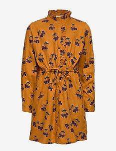 Electa Dress - INCA GOLD, AOP BERRIES SMALL