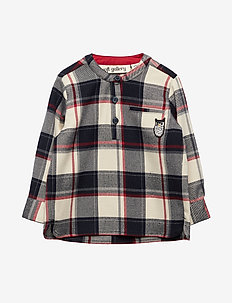 Ezra Shirt - RBW CHECK, OWL PATCH GREY
