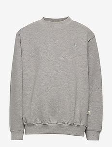 Walker Sweatshirt - sweatshirts - grey melange, mini owl emb.