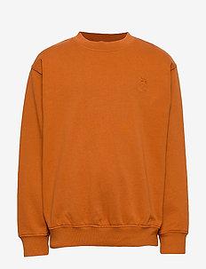 Walker Sweatshirt - sweatshirts - pumpkin spice, mini owl emb.