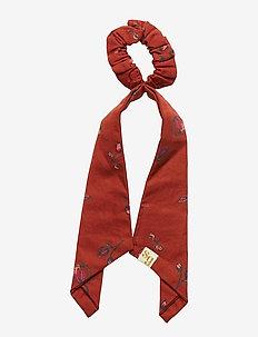 Scrunchie Bow - haar accessoires - red ochre, aop cloudberry