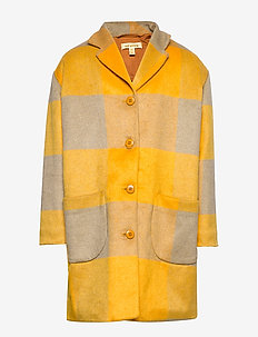 Eveleen Coat - GOLDEN CHECK